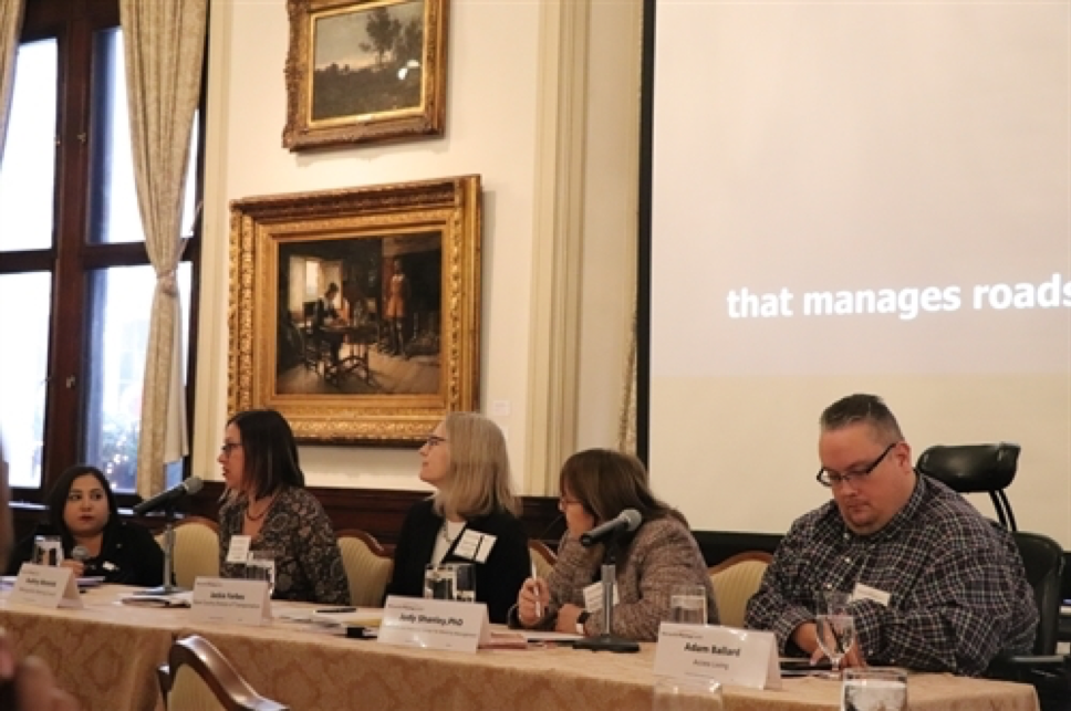 MPC hosted a panel discussing the report's findings and recommendations. From L to R: Risa Rifkind, Audrey Wennink, Jackie Forbes, Judy Shanley, and Adam Ballard