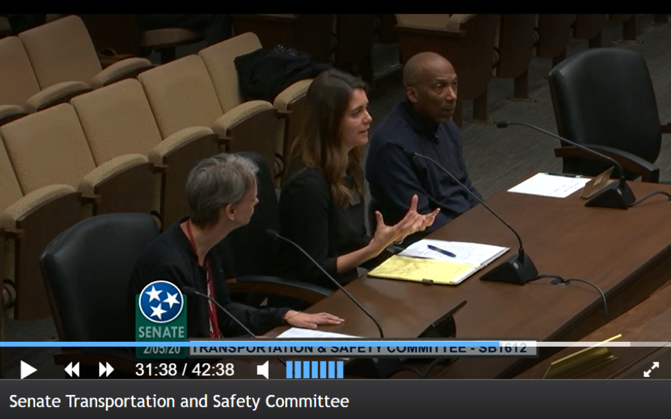 Testimony on the new Tennessee Office of Accessible Transportation included the voices of individuals with disabilities from around the state. Image Courtesy of Lauren Pearcy of TN Council on Developmental Disabilities.
