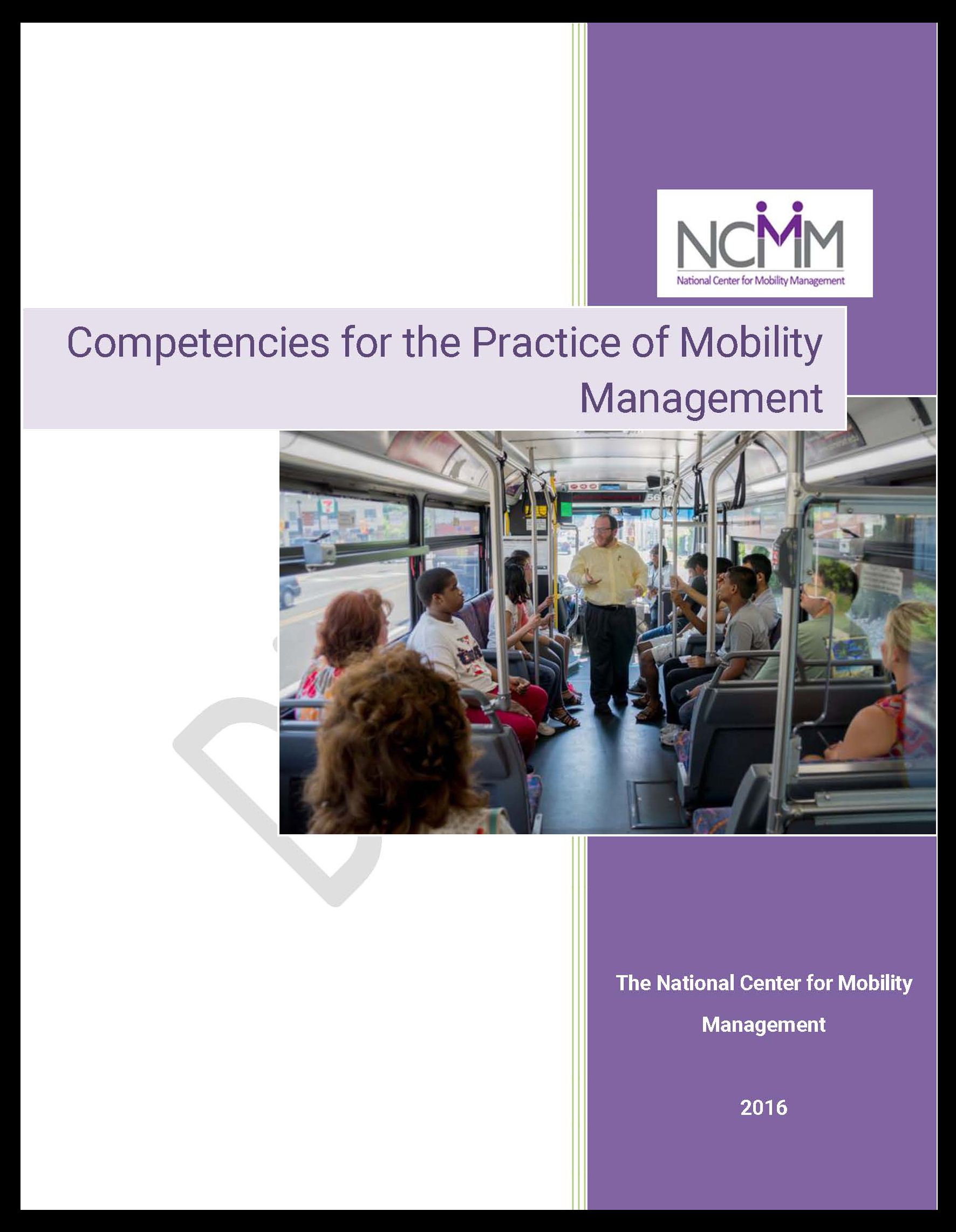 Front cover of Mobility Management Competencies Report